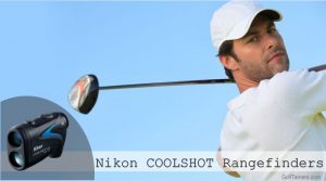Male golfer swinging golf club back ready to hit the ball.