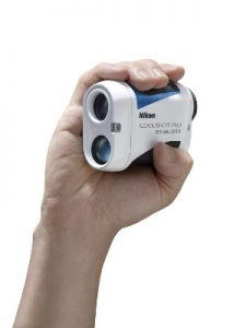 Coolshot Pro Rangefinder in persons hand