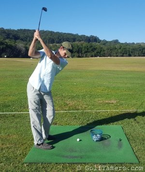 Mike Cuthbert at Driving Range